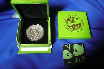 2017 8 oz Silver Panda 35th Anniversary Fiji .999 Antiqued High Relief Coin