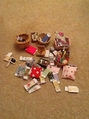 Dolls House Sewing Items Assorted Lot