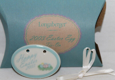 New Longaberger 2003 Easter Egg Tie-On With Box