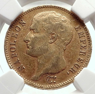 1807 FRANCE Napoleon Bonaparte BIG 40 Francs Antique French Gold Coin NGC i70840