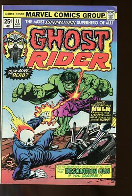 Ghost Rider #11 Fine- Hulk 1975 Marvel Comics