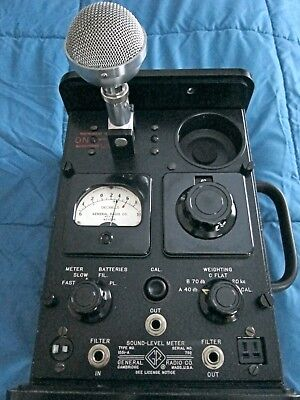 General Radio 1551A Sound Level Meter - Excellent - Spare Tubes and Battery