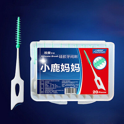 20x Clean Tooth Floss Head Hygiene Dental Plastic Interdental Brush ToothpickCL