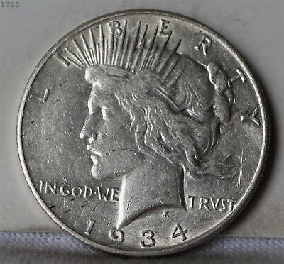 "1934-S Peace Dollar ""XF/AU"" *Free S/H After 1st Item*"
