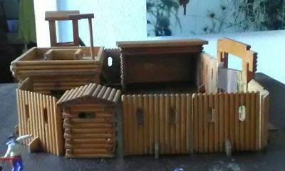 großes Timpo Toys Fort Holz Wildwest Fort Jackson?