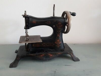 Rare 1920's model CASIGE Germany miniature toy metal child's sewing machine