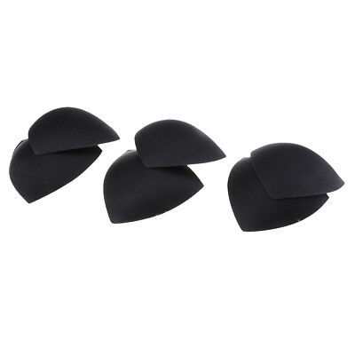 3 Pairs Womens Bra Inserts Pads & Holes For Swimwear Removable Sports Black