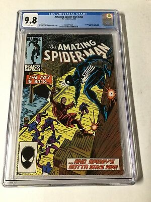Amazing Spider-man 265 Cgc 9.8 White Pages 1st Silver Sable