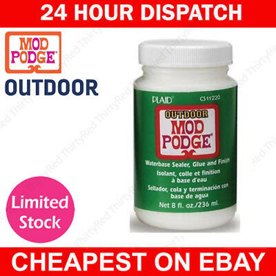 8oz OUTDOOR GARDEN, WOOD, CONCRETE & FABRIC MOD PODGE MODEL GLUE VARNISH SEALER