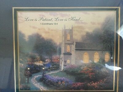 "Thomas Kinkade Framed Art, ""Love is Patient, Love is Kind..."""
