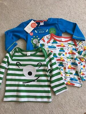 Boots Mini club tops set of 3 BNWT- 6-9months