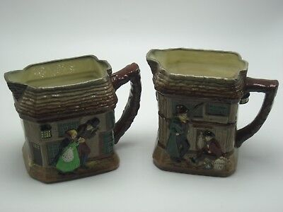 Lot of 2 Royal Doulton Series Ware Oliver Twist & Old Curiosity Shop Pitchers