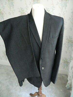 Vintage Burton tailored 60s Grey Jazz Suit button fly stripe pleated jk trousers
