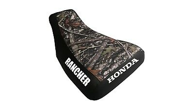 Honda Rancher 2000-03 Camo Top Logo Seat Cover #kw02so1870