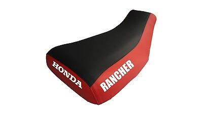 Honda Rancher 400 2004-06 Logo Red Sides Seat Cover #kw02so1766