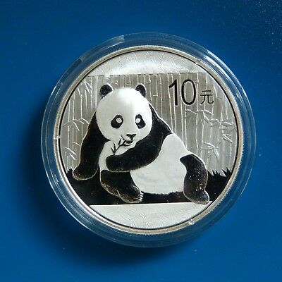 2015 Chinese Solid Silver Panda 1oz Bullion Coin (Encapsulated by the Mint)