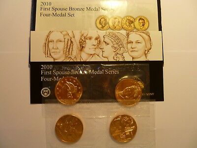 2010 U.S. Mint First Spouse Bronze Medal Series 4-Medal Set
