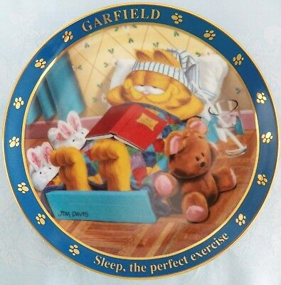 Vintage 1978 Danbury Mint A Day With Garfield Limited Edition Collector Plate