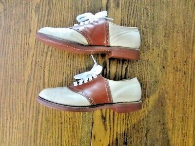 """WOMEN'S VINTAGE '50's NORDSTROM """"SOAP 'N WATER"""" LEATHER SADDLE SHOES"""