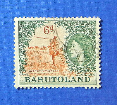 1954 BASUTOLAND 6d SCOTT# 51 S.G.# 48 USED                               CS20171