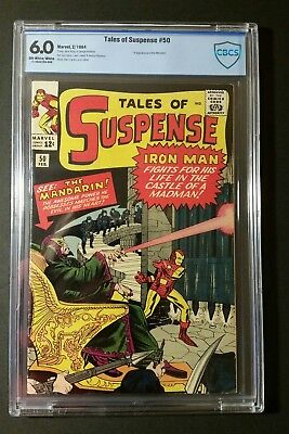 Tales Of Suspense 50 Fn 6.0 1St Appearance Of The Mandarin Cbcs Not Cgc