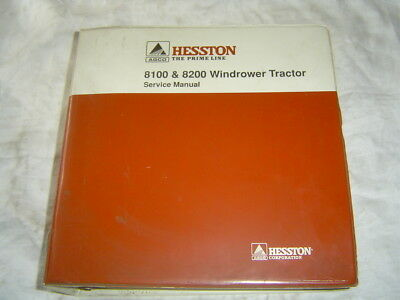 AGCO HESSTON 8100 8200 windrower tractor shop repair service manual