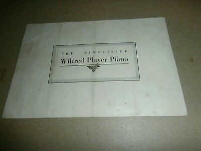 Antique Wilfred Player Piano Sales Advertising Brochure