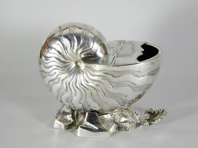 Antique Silverplate Nautilus Shell Spoon Warmer
