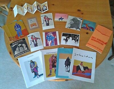 Fritz Scholder Collection of Catalogs and Promotional Material 1972 - 1976