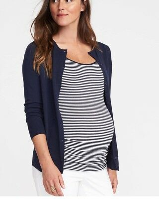 Old Navy Maternity Women's Size M Navy Blue Knit Cardigan Sweater NEW