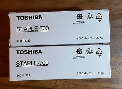 Toshiba Staple-700, one complete box of 3; one box with 2.