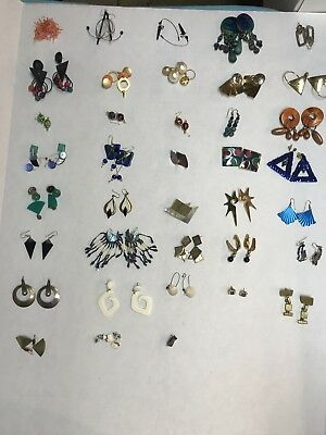 Huge Lot Of 37 Pairs Of Vintage Post Earrings...LQQK!