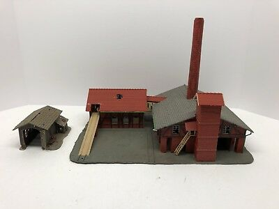 HO scale Lot Of Buildings  vintage model railroad. Saw Mill And Other Lot 17