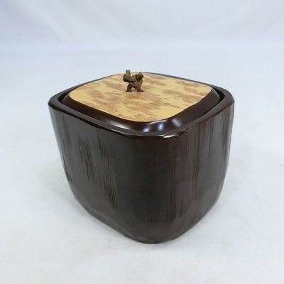 E092: Japanese lacquer on bamboo ware covered pot with appropriate work