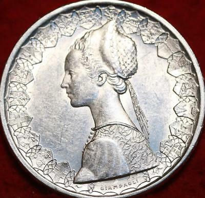 Uncirculated 1958 Italy 500 Lire Silver Foreign Coin
