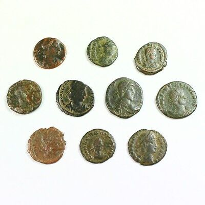 Ten (10) Nicer Ancient Roman Coins c. 100 - 375 A.D. Exact Lot Shown rm2885