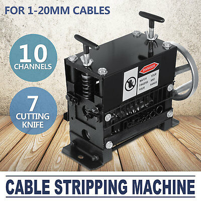 Manual Electric Wire Stripping Machine Recycle Tool Scrap Great 10 Channels