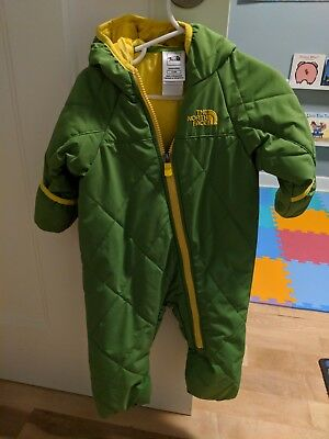 North face thermoball bunting 6-12 month green boy girl