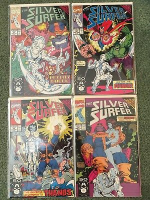 Silver Surfer #55-58 NM, Infinity Gauntlet, Thanos, Marvel (1991)