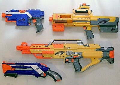 NERF HUGE LOT blasters, magazines, darts, and accessories STRYFE STAMPEDE & MORE