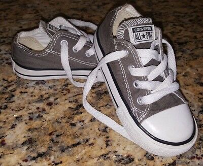 Toddler Girl & Boy Gray Converse Shoes Size 7 7c Infant sneakers