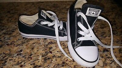 Toddler Girl & Boy Black Converse Shoes Size 10 10c Infant sneakers