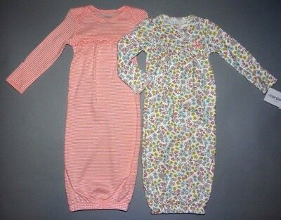Baby girl clothes, Newborn, Carter's 2 Cotton Gowns