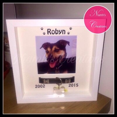 Dog Collar Tag Photo Frame - Pet Memorial - Cat - Any Pet