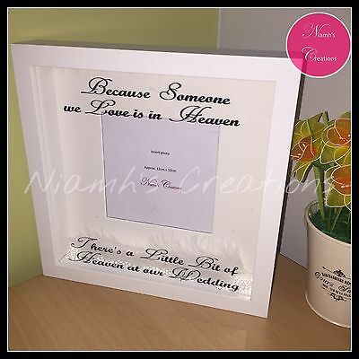 HEAVEN AT OUR Wedding Photo Frame Wall Art Remembrance Memorial ...