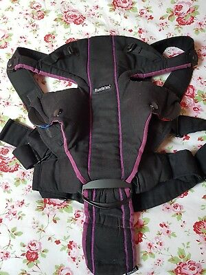 32f5602d3c8 BABY CARRIER - Cotton Mix Miracle Black Purple  96053  Baby Bjorn ...