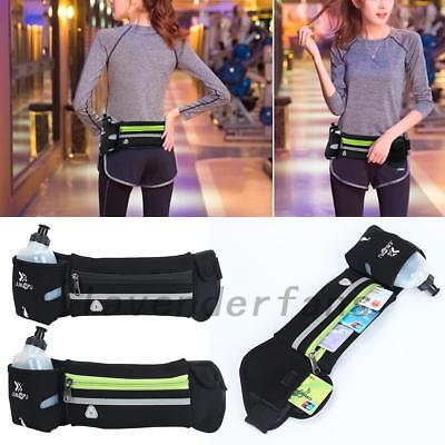 Adjustable Running Pocket Cycling Hiking Waist Bag Phone Storage+ Water Bottle