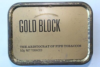 Metalldose Gold Block Pipe Tobaccos   NAAFI Stores for H.M. Forces