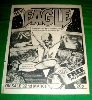 Eagle Comic #1  1982 Release   Stunning  Advert  From 1982