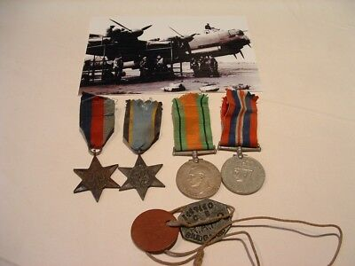 Ww11 Medal Air Crew Europe Medal Group Dog Tags And Photo